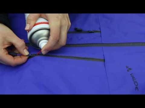 Lubricating a rough running zip | VAUDE