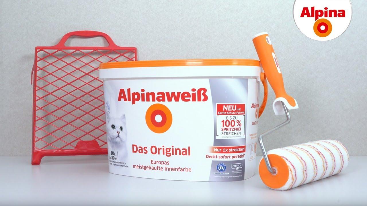 Alpinaweiß, der Klassiker unter den Wandfarben: Alpina Farben