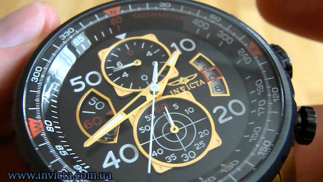 5540b74c153 Invicta 17206 Aviator Japan Chronograph Gold - YouTube