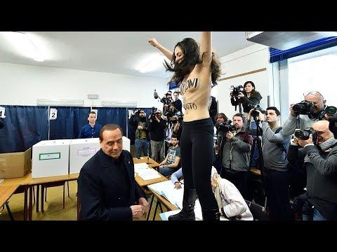 Silvio Berlusconi (81) møtte Femen-protest