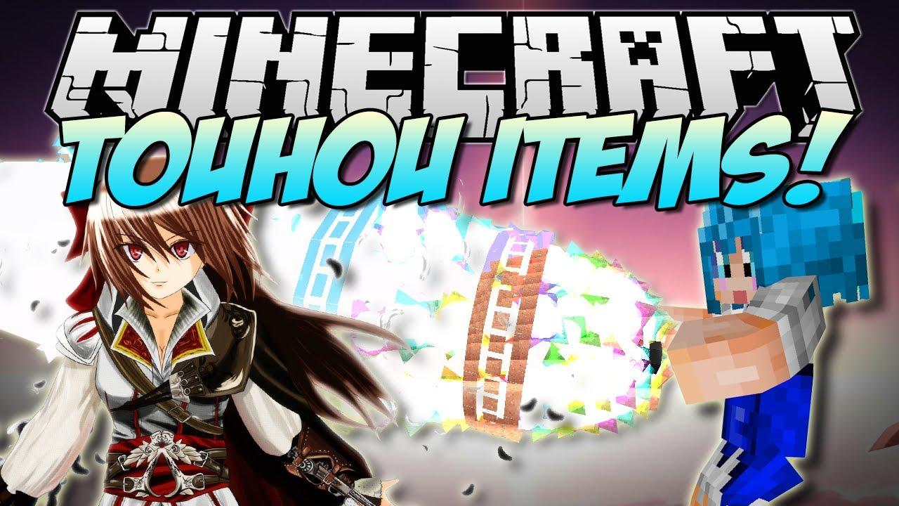 Minecraft | TOUHOU ITEMS! (Crazy Anime Magic!) | Mod Showcase [1.6.2]