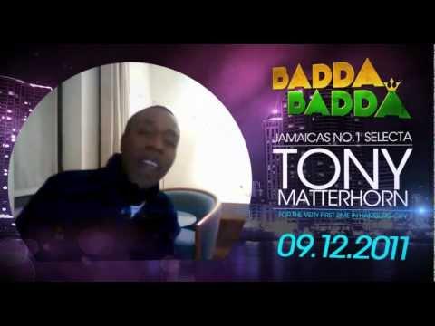 TONY MATTERHORN for BADDA BADDA - Dec. 9th - @Planet Pauli - Hamburg