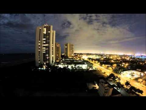 West Palm Beach GoPro 4K Time Lapse 2160p 60fps Night Lapse