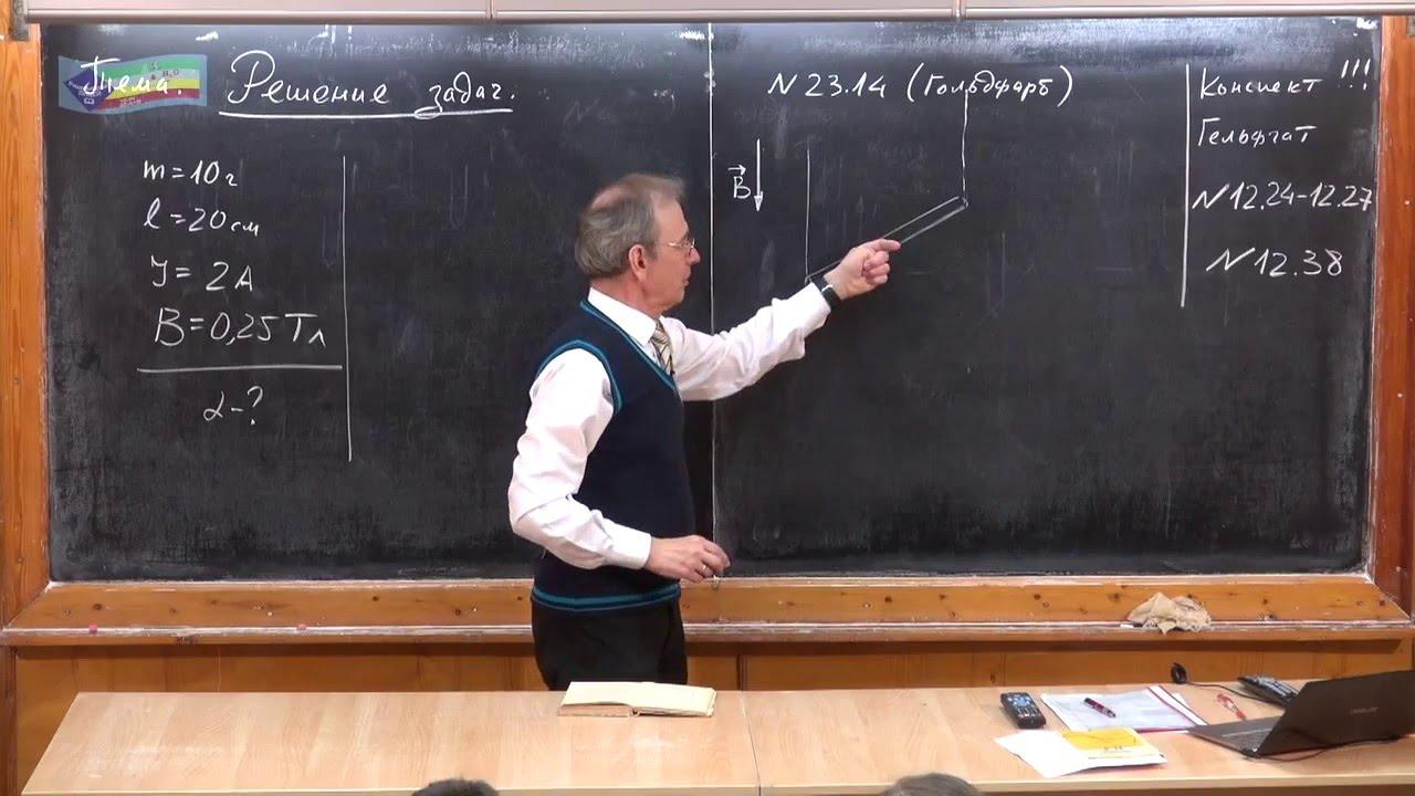 Закон ампера задачи с решением пример решение симплексных задач