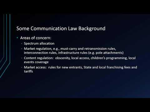New Media Law: Class 1: Communications Law