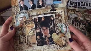 """1 разворот в альбом -""""Волшебный мир Гарри  Поттера"""""""