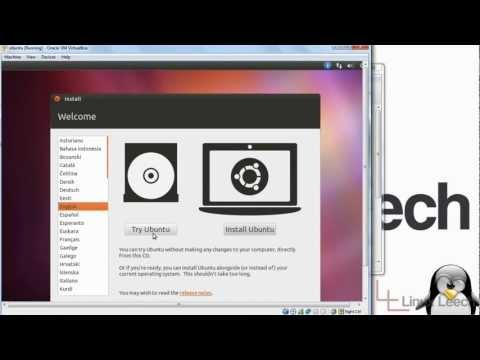 Installing linux in virtualbox