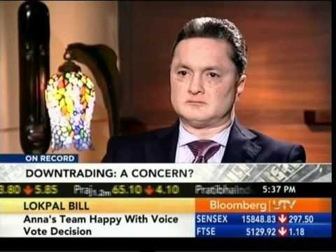 Mr. Gautam Singhania, CMD Raymond Limited on Bloomberg UTV - 27th Aug 2011.