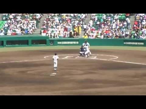 Eephus pitch at Japanse high school baseball game in Koshien Stadium