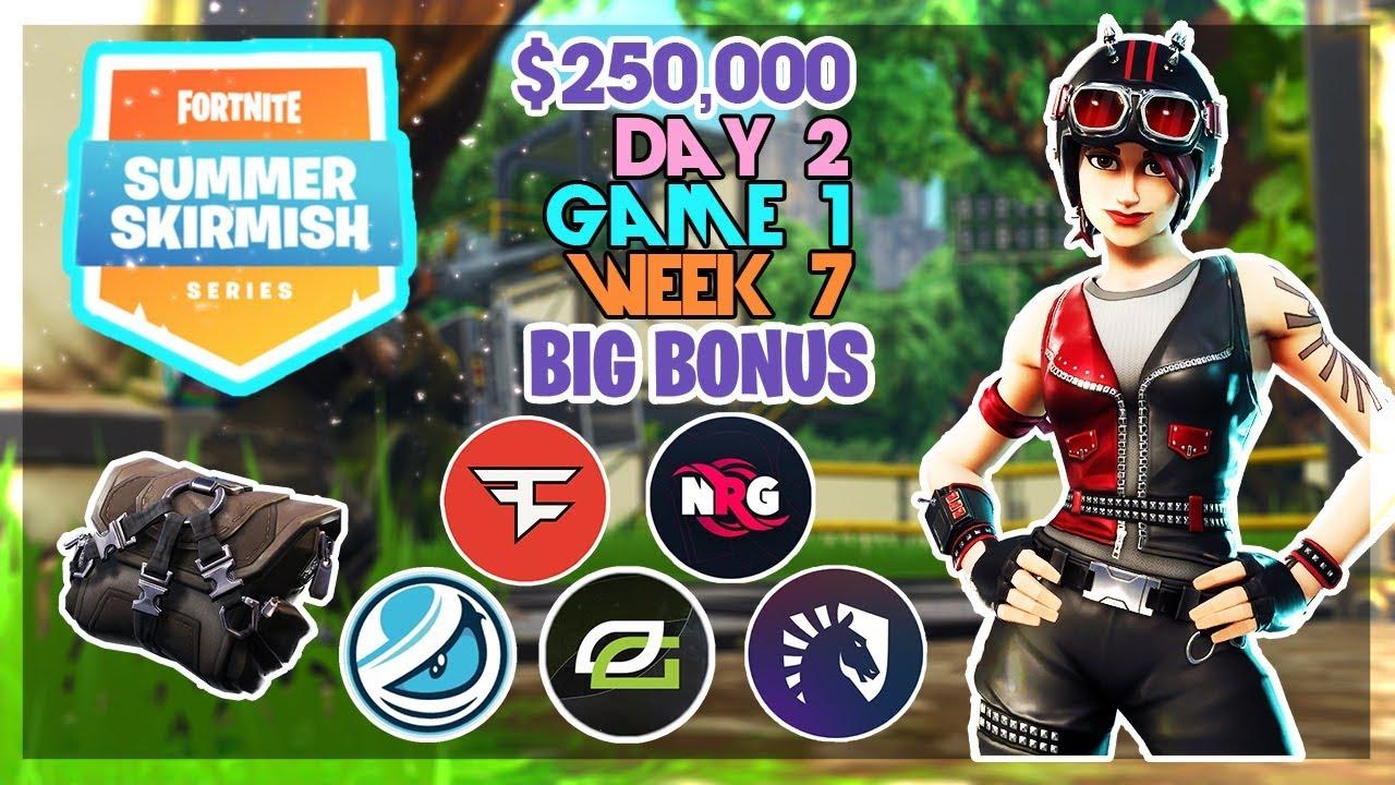 250 000 Big Bonus Summer Skirmish Week 7 Day 2 Game 1 Fortnite