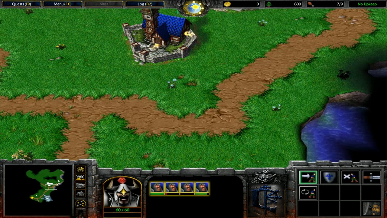 Warcraft 3 Orcs Humans Humans 01 First Assignment Youtube