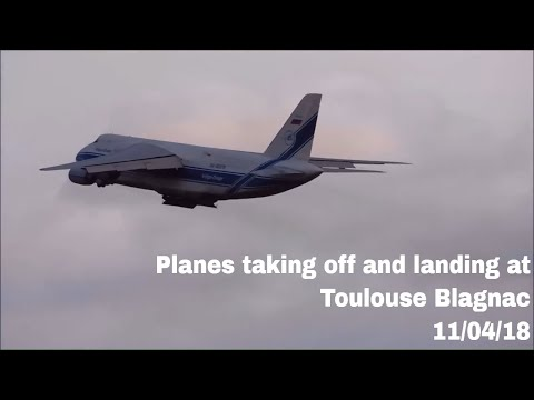 Planes taking off and landing at Toulouse Blagnac | 11/04/18