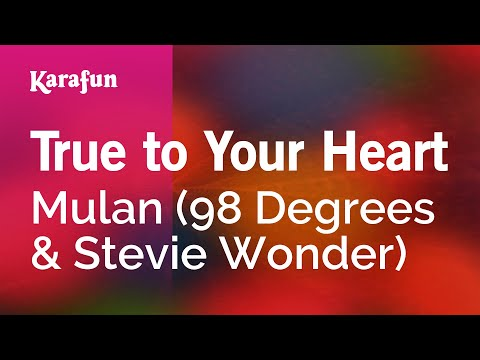 Karaoke True To Your Heart - 98 Degrees *