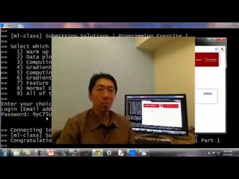 Lecture 5 7 — Octave Tutorial || Programming Exercises — [ Machine Learning  | Andrew Ng]