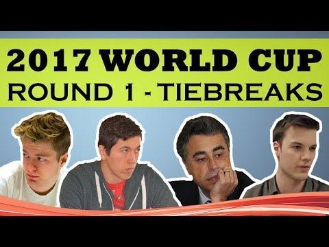 2017 World Cup Round 1  Tiebreaks - Yasser Seirawan & Eric Hansen