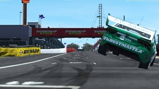 rFactor 2 Raw Footage: 2:03.867 Lap of the Gods at Bathurst in a Ford Falcon V8 Supercar