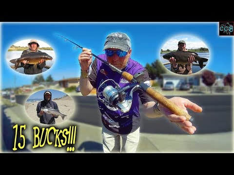 CHEAP Spinning COMBO Catches BIG FISH!!!