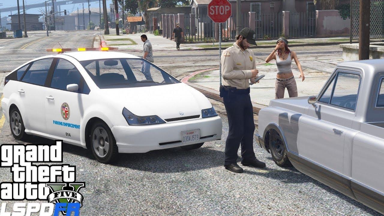 GTA 5 LSPDFR 0.4.1 Los Angeles Parking Enforcement Patrol - Real Life Police Mod #714
