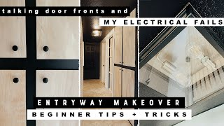 DIY Entryway Makeover | Weekend Refresh with Beginner Carpenter Tips + Tricks!!!