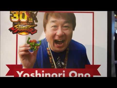 Yoshinori Ono at E3 2017 for the Street Fighter 30th Anniversary