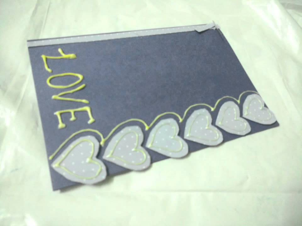 how to make simple valentine s day love card youtube