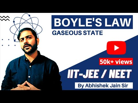 Boyle's Law by Abhishek Jain (ABCH Sir) for IIT JEE Mains/Adv & Medical.