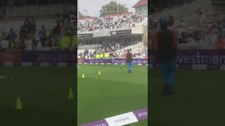 Bhuvi warming up a bit!! England vs India 2018