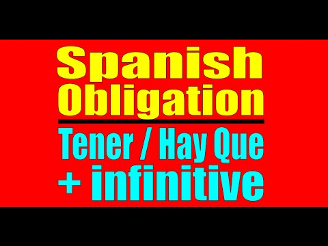 Quick Spanish Lesson: Tener que  infinitive and Hay que  infinitive