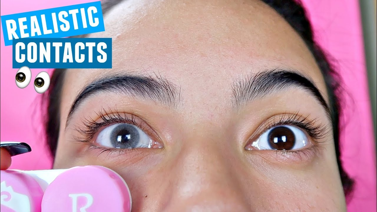 Colored Contacts For DARK EYES! Try-On Haul & Colored Contacts For DARK EYES! Try-On Haul - YouTube