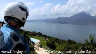 Secret road to Monte Baldo Lake Garda avoiding queues, Assenza Prada on BMW R1200GS motorbikes
