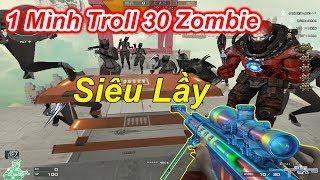 Kỷ Lục Zombie Thủ Cửa 1 Mình Troll 30 Zombie Với Góc Bug Siêu Lầy | TQ97