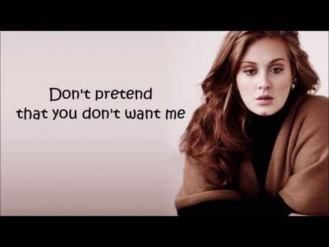 Water Under The Bridge-Adele(lyrics Video)