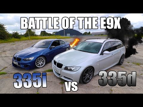 BMW 335i v 335d DRAG RACE *CRAZY RESULT*