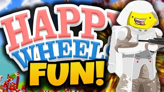 "Happy Wheels Funny Moments! - ""EPIC FAN LEVELS!"" - (Happy Wheels Gameplay)"