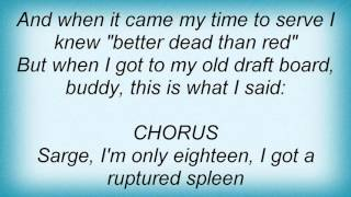 18044 Phil Ochs - Draft Dodger Rag Lyrics