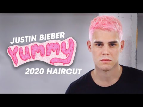 yummy-hairstyle---justin-bieber-pink-hair---2020-men's-haircut