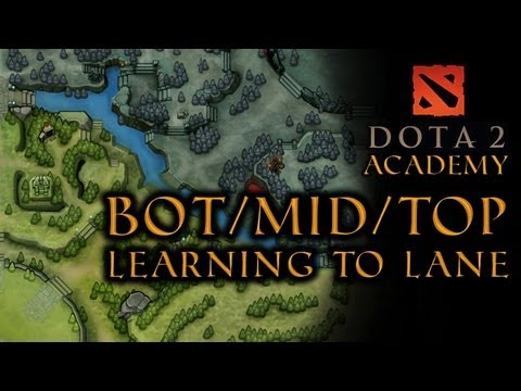 DOTA 2 Bot Mid and Top: Learning the Lanes (VG Academy) - VideoGamer