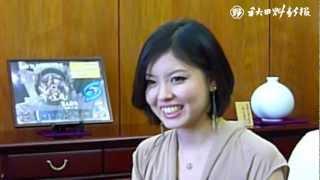 ミス・ユニバース出場の久杉さんが秋田魁新報社を訪問