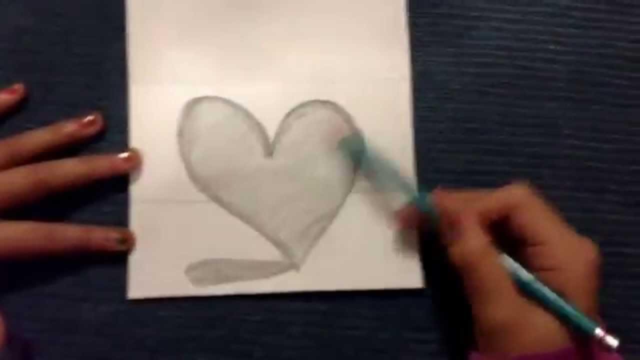 Como dibujar un corazn con sombra  YouTube