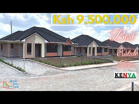 Touring $95000 GIANT BUNGALOWS in Jasmine Villas Estate Kitengela Kenya -BEST OF THE BEST