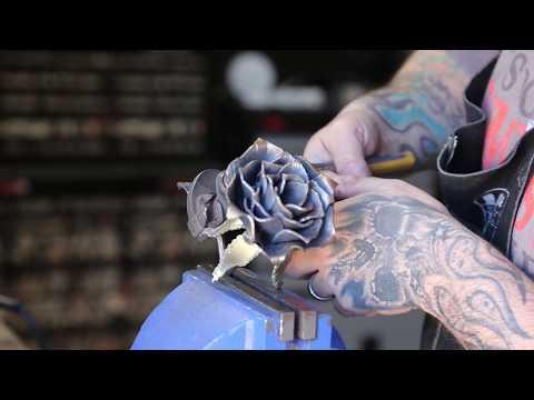 Blacksmithing a Rose blacksmith rose forged rose metal sculpture metalworking metal art beatiful