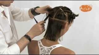 Салонная стрижка для волос средней длины
