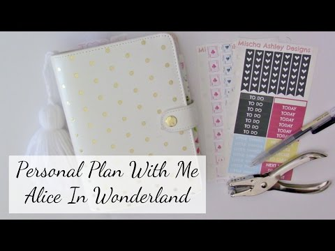 Personal Planner Plan With Me - Alice In Wonderland ft Mischa Ashley Designs