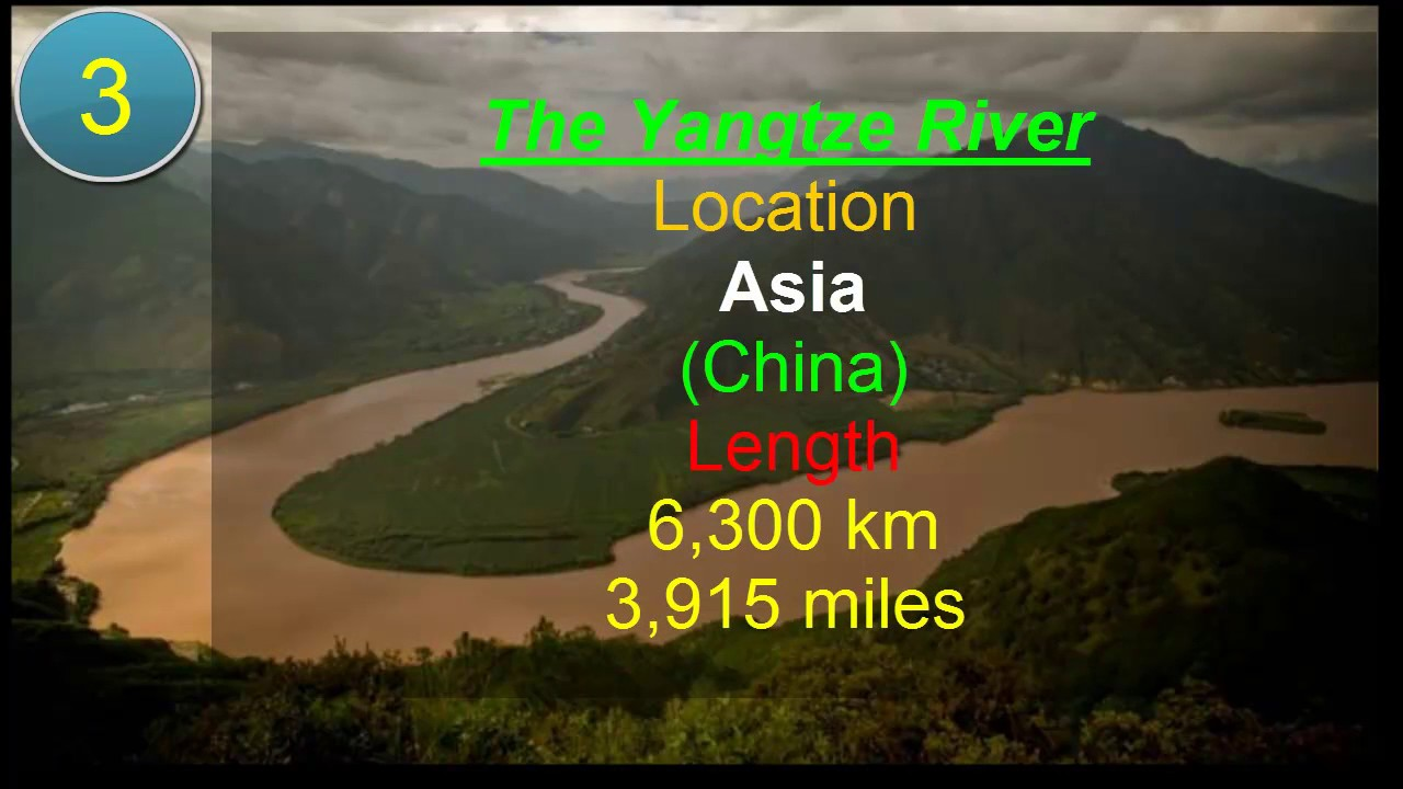 Top Longest Rivers On Earth YouTube - 5 longest rivers
