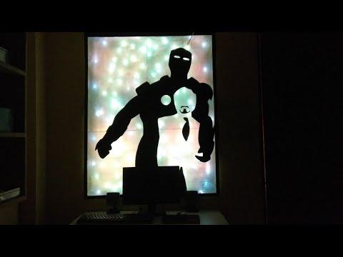 Making iron man wall light.