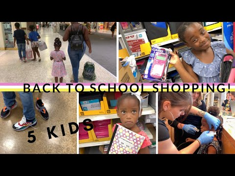 BACK TO SCHOOL SHOPPING WITH 5 KIDS // CLOTHES, SHOES AND SCHOOL SUPPLIES // DROVE ME CRAZY