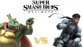 Super Smash Bros. Ultimate - King K. Rool vs. Solid Snake Gameplay