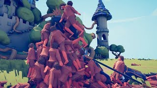 Using incredibly ineffective means to kill everyone in Totally Accurate Battle Simulator