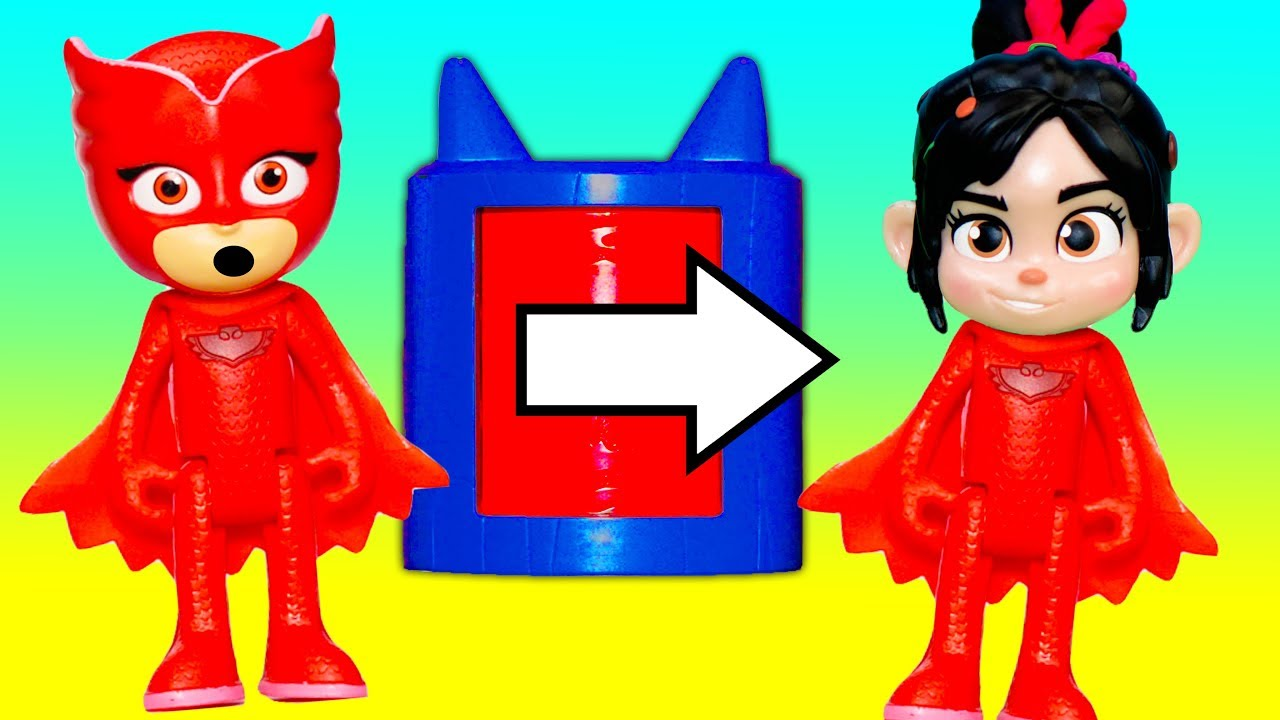 pj-masks-and-wreck-it-ralph-venellope-and-play-with-the-transforming-towers-with-vampirina
