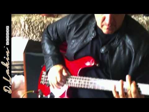 Jason Scheff of the band Chicago D. Lakin Basses Shark